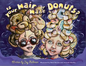 book hair made of donuts