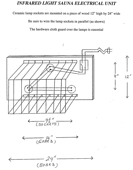 Infrared Sauna Electrical Plans